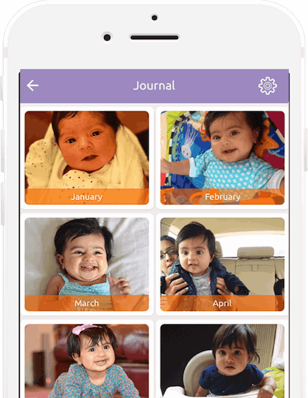 Add regular photos of your child to your journal and look back in amazement at the changes your child goes through day by day