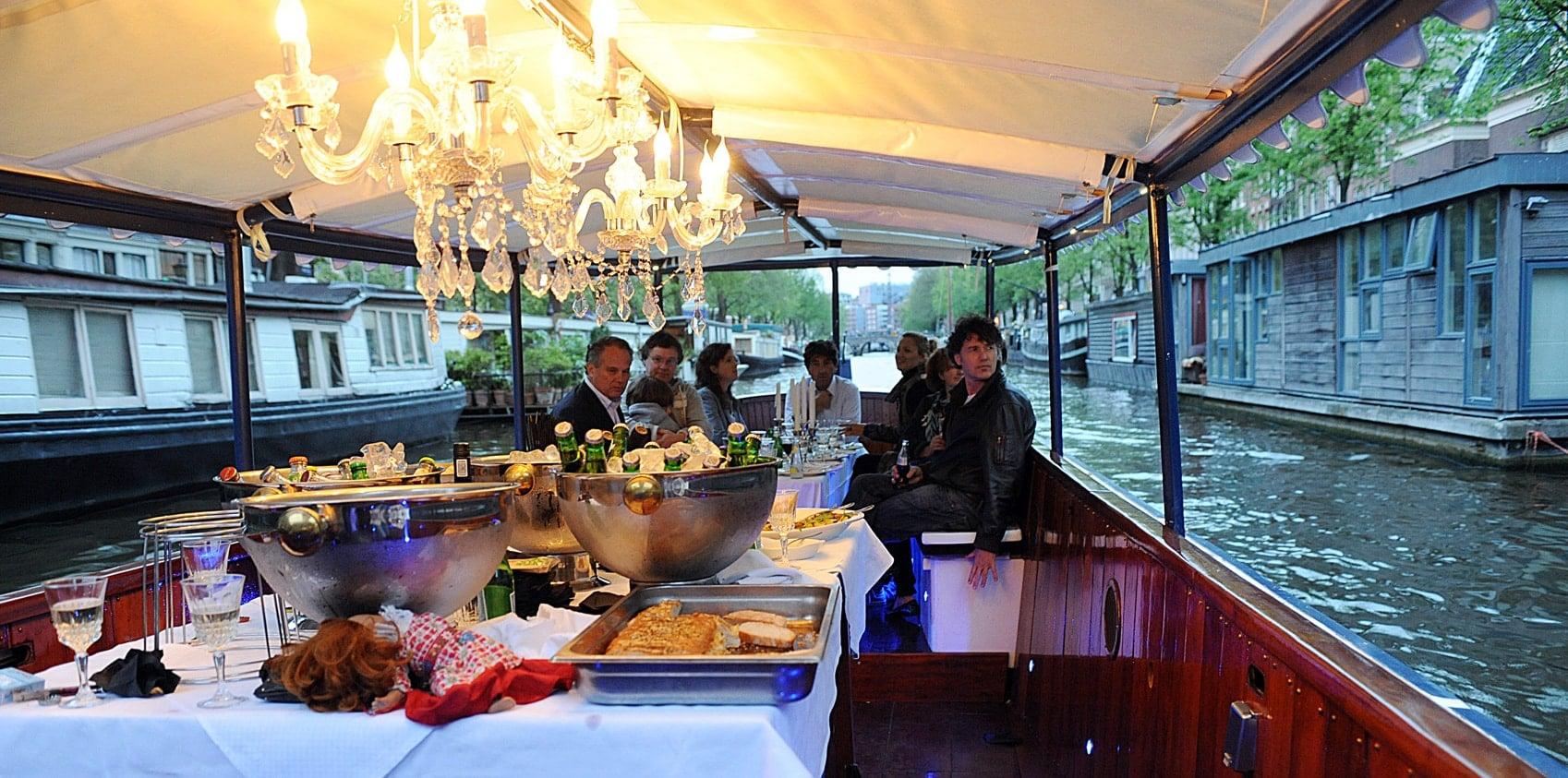 Amsterdam Dinner cruise, rondvaart Amsterdam met eten