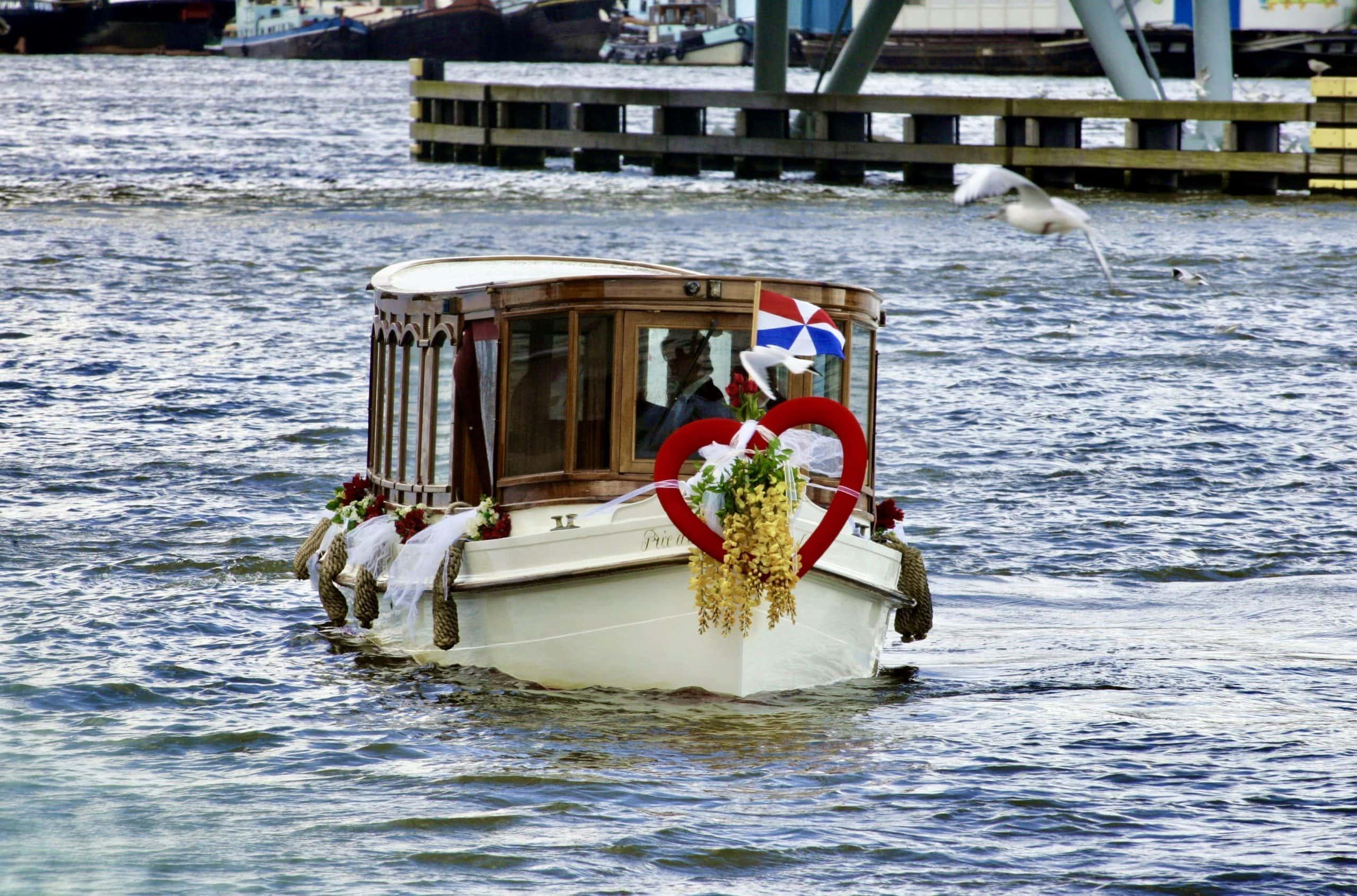 Trouwen boot Amsterdam