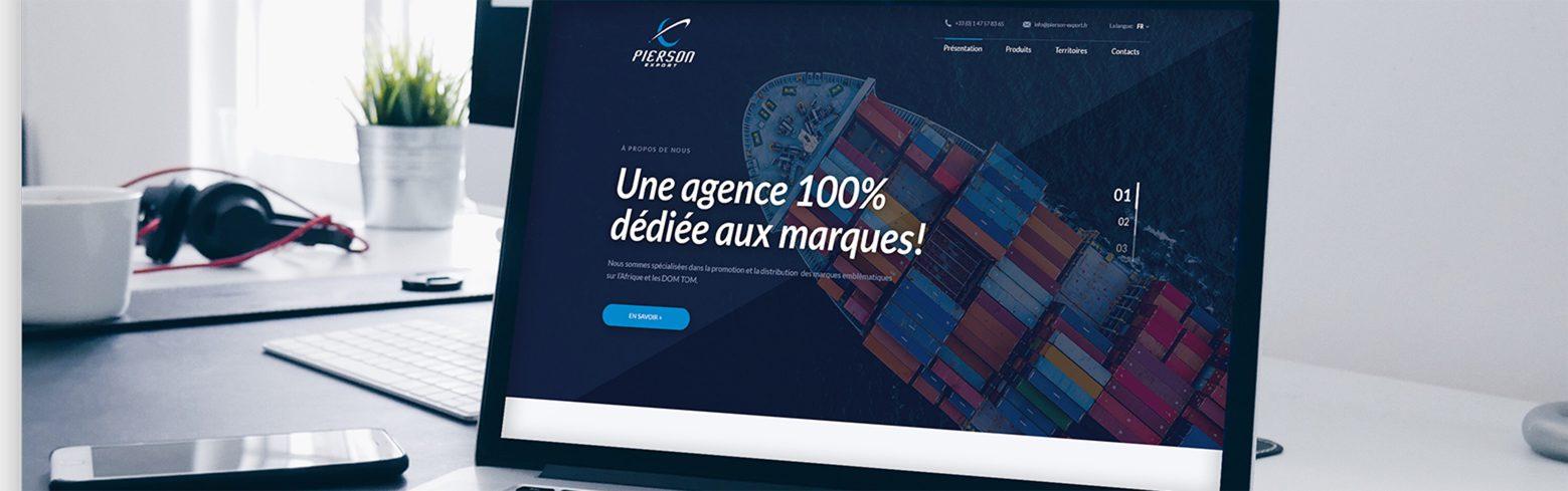 projektowanie stron www projekt pierson-export