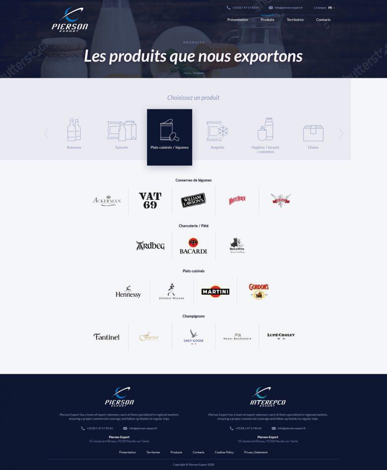 tworzenie stron internetowych projekt pierson-export