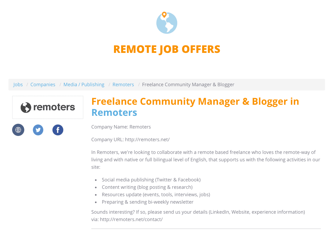 Remote Jobs Section Renewed