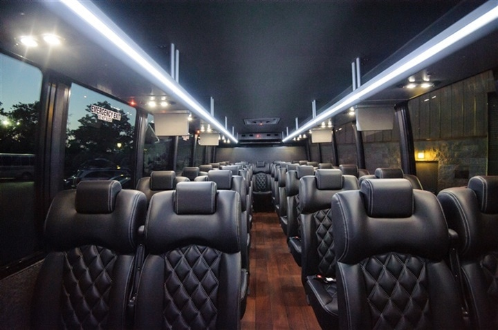 30, 30, 40 passenger executive mini bus shuttle rental in McLean, Vienna VA