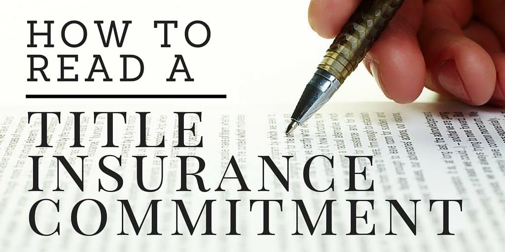 how toread a title insurance commitment