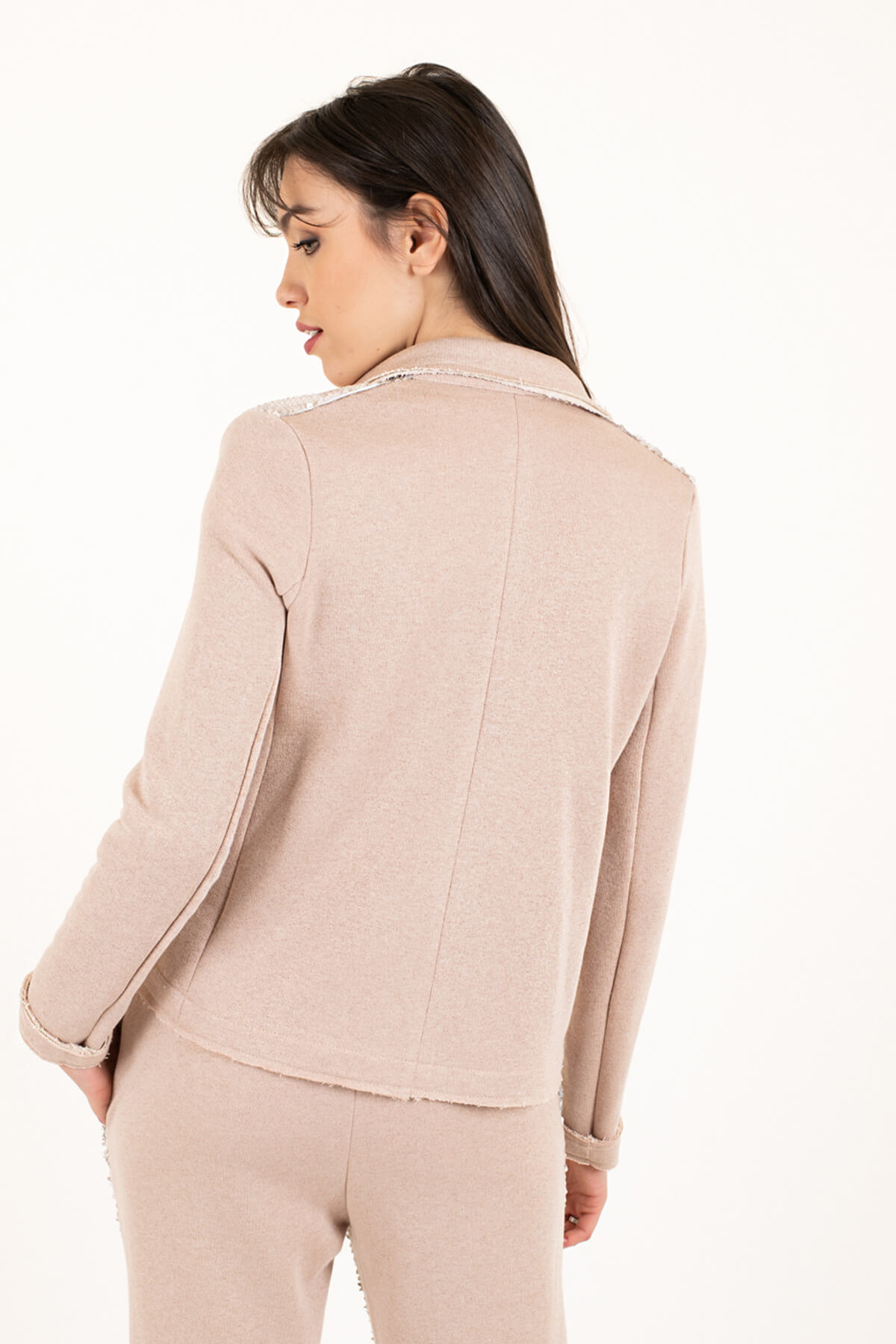 giacca felpa paillettes rosa art 2