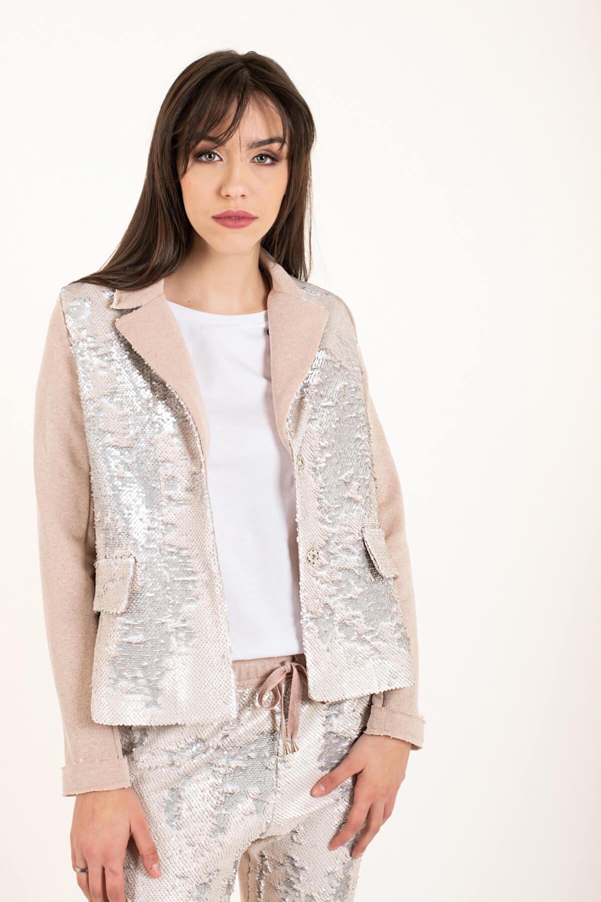 giacca felpa paillettes rosa art 4