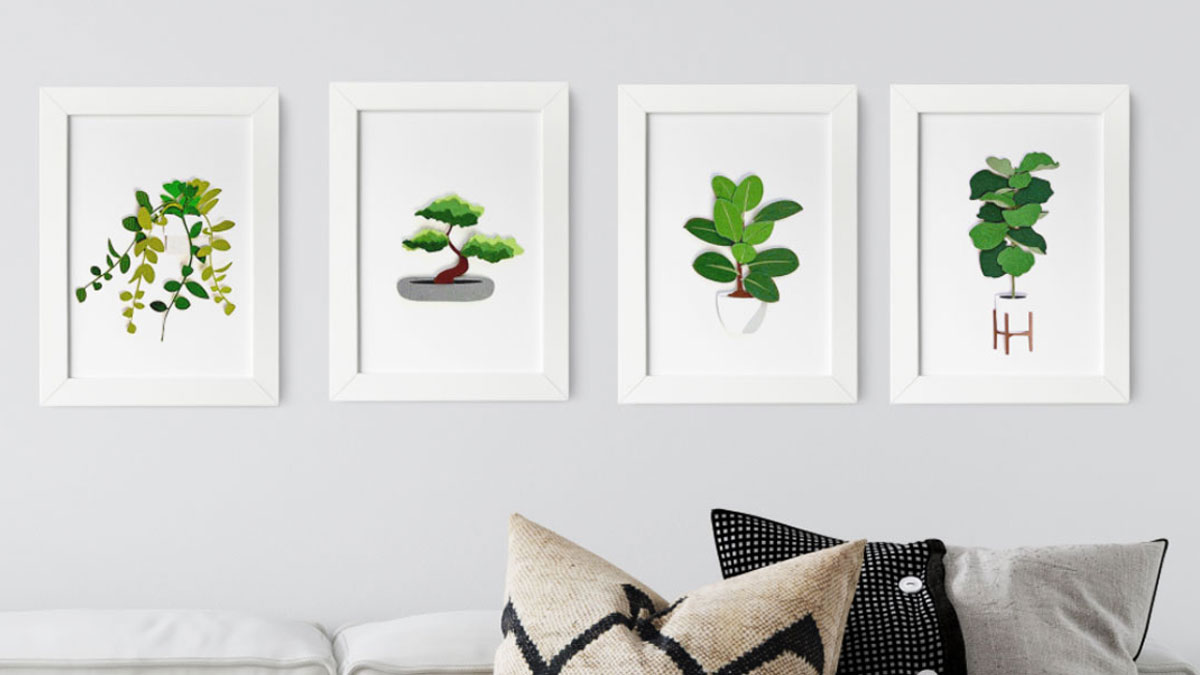 Botanical Paper Art Collection One