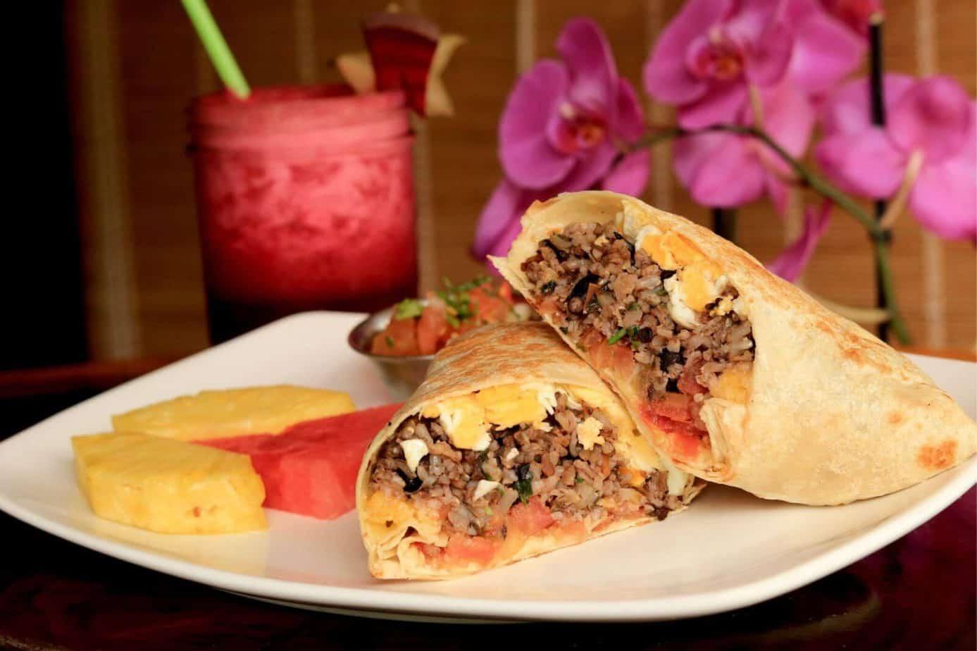 Gallo Pinto Breakfast Burritto