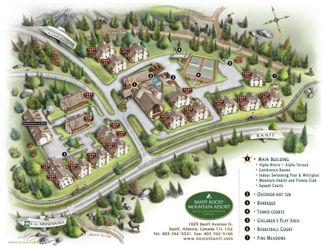 Banff Rocky Mountain Resort Map