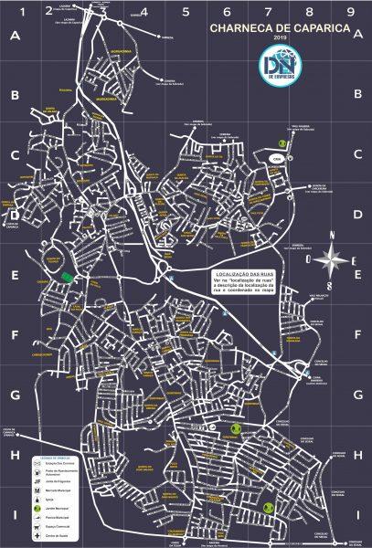 mapa completo da Charneca da Caparica