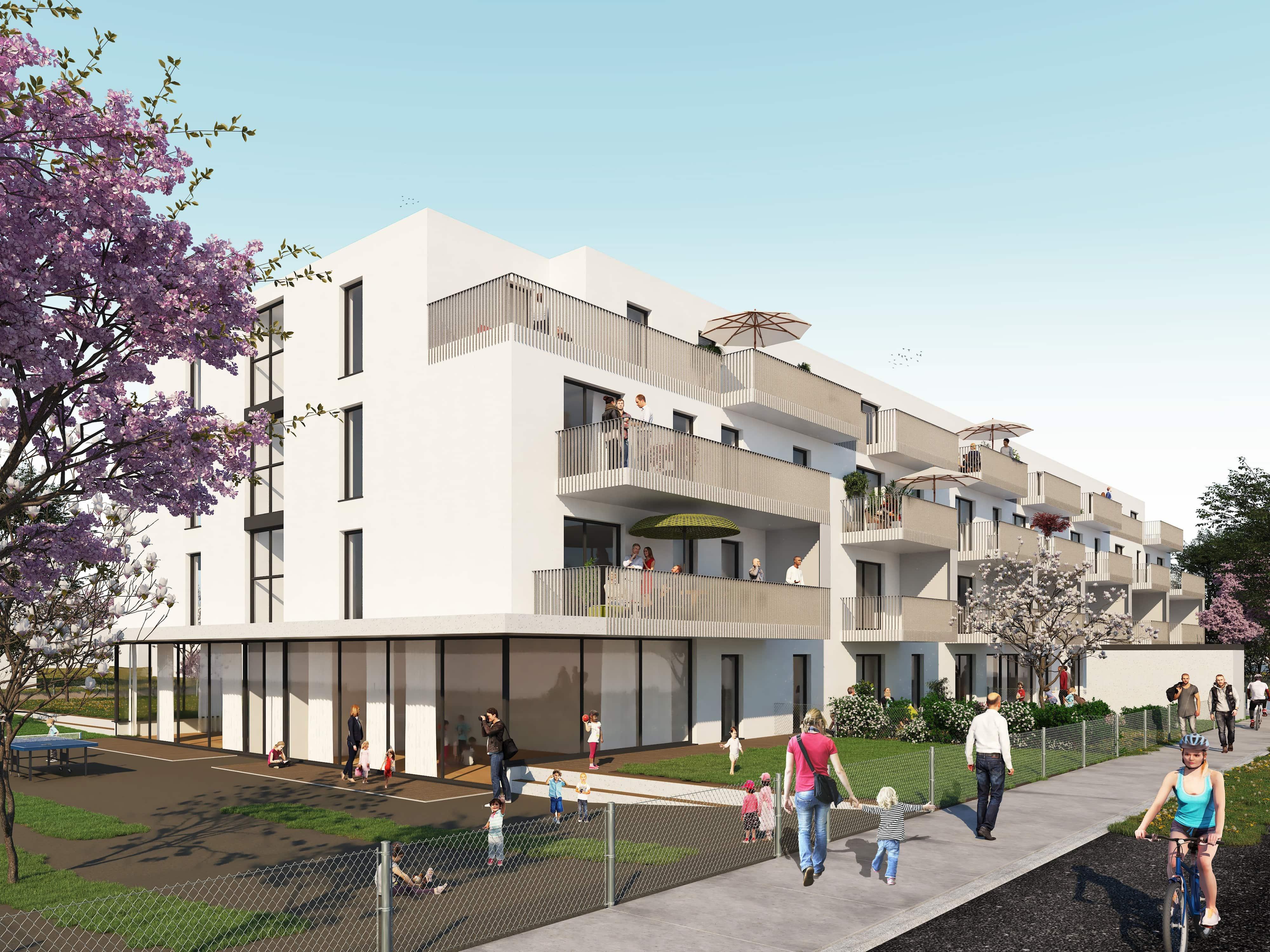 © RUNSER / PRANTL architekten, Passiv Wohnhausanlage, Groß-Enzersdorf, Niederösterreich, Österreich, Wettbewerb, 2019, Passiv Wohnhausanlage