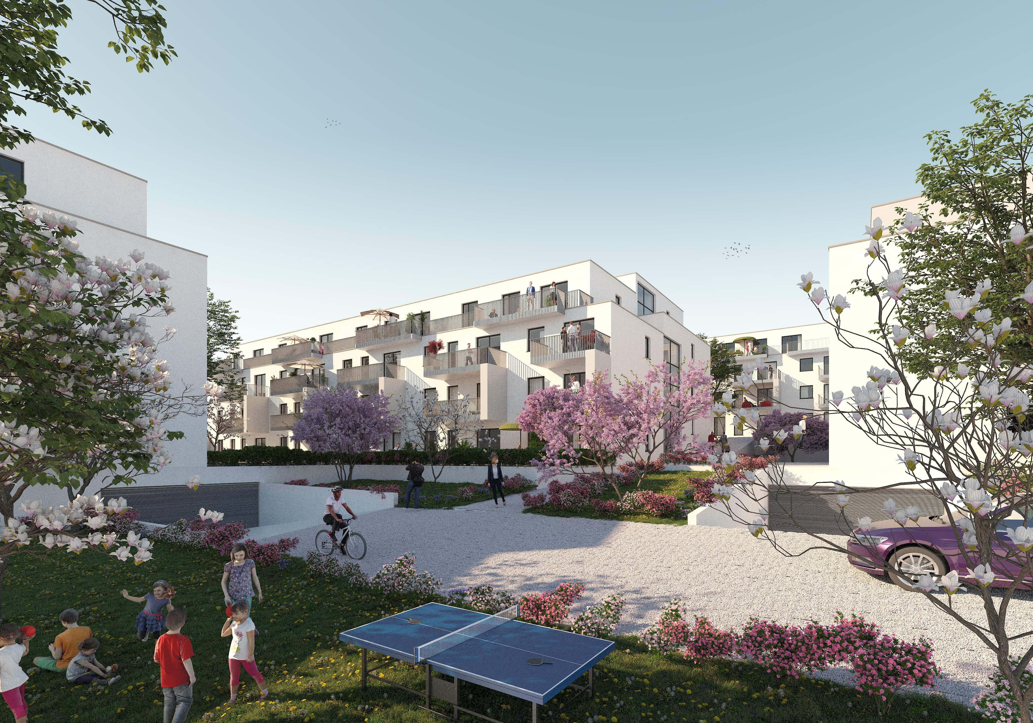© RUNSER / PRANTL architekten, Passiv Wohnhausanlage, 2000 Stockerau Niederösterreich, Niederösterreich, Österreich, Wettbewerb, 2019, Passiv Wohnhausanlage