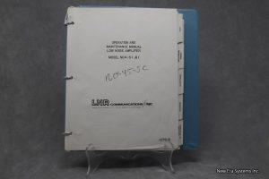 LNR Low Noise Amplifier Model NC4-51 Manual