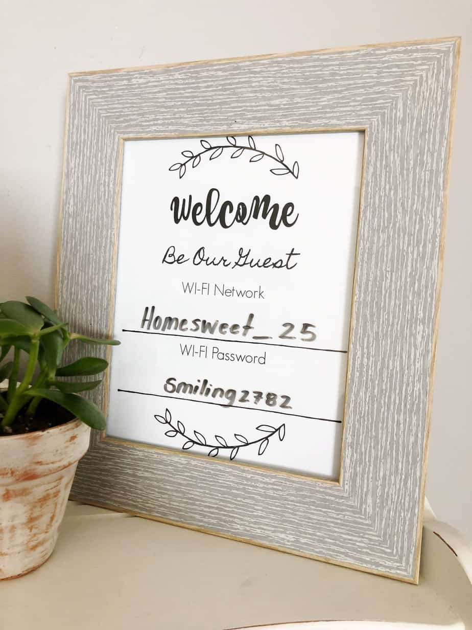 This is a picture of Declarative Wifi Password Sign Printable