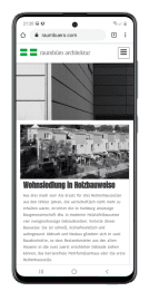 Raumbüro Architektur Website Mobilansicht