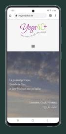 Responsive Website für Yoga40plus