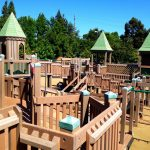 Wood playground- penetrating wood sealer and wood stain