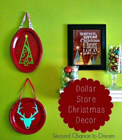 Second Chance to Dream DIY Dollar Store Christmas Decor #dollarstorecrafts #diychristmas