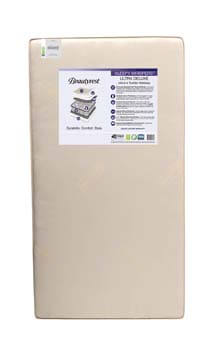 2. Simmons Kids Beautyrest Beginnings Sleepy Whispers Ultra Deluxe 2 n 1 Crib and Toddler Mattress, Neutral
