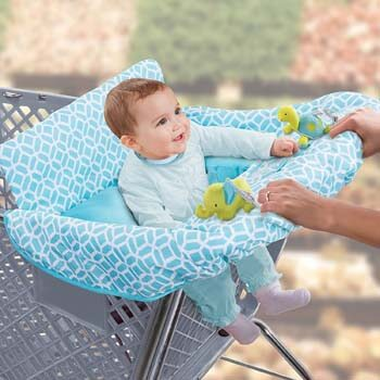 10. Summer Infant 2-in-1 Cushy Cart Cover and Seat Positioner, Diamonds