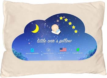 1. Little One's Pillow - Toddler Pillow, Delicate Organic Cotton, Hand-Crafted in USA (13 in x 18 in)