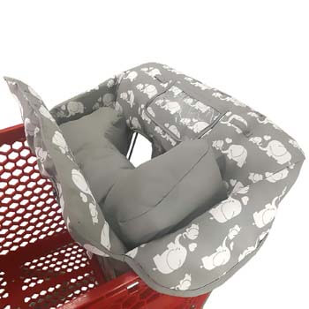 5. Love&go Soft Pillow Attached 2-in-1 Shopping Cart and High Chair Cover