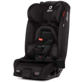3. Diono 2020 Radian 3RXT, 4-in-1 Convertible, Extended Rear Facing, 10 Years 1 Car Seat, Fits 3 Across, Slim Fit Design, Black Jet