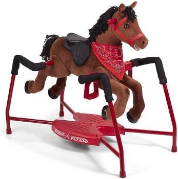 4. Radio Flyer Chestnut Plush Interactive Riding Horse