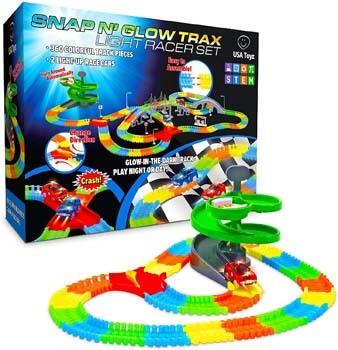 4. USA Toyz Glow Race Tracks for Boys or Girls