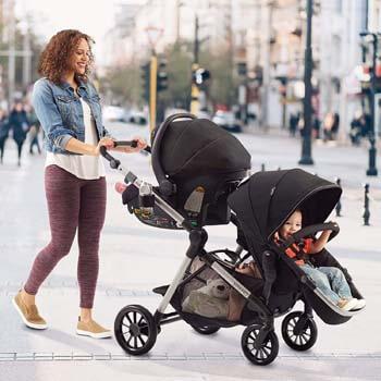 10. Evenflo Pivot Xpand, Single-to-Double Convertible Baby Stroller