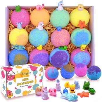 6. Excalla Kids Bath Bombs with Surprise Toys Inside