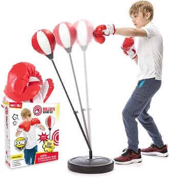 1. whoobli Punching Bag for Kids Incl Boxing Gloves