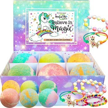 4. Mineral Me California Unicorn Bath Bombs for Girls