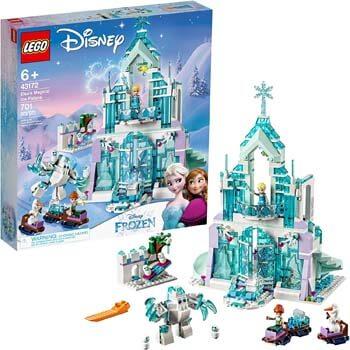 2. LEGO Disney Princess Elsa's Magical Ice Palace 43172 Toy Castle Building Kit