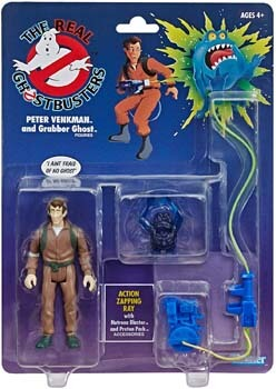 4. The Real Ghostbusters Retro Figures - Peter Venkman and Grabber Ghost