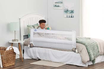 2. Regalo Swing Down 54-Inch Extra Long Bed Rail Guard, with Reinforced Anchor Safety System