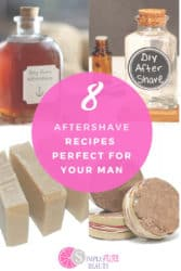 These super simple homemade aftershave recipes are so easy to do! Treat the man in your life with one gift that keeps on giving! These super simple DIY aftershave recipes are perfect for men! They're easy, full of natural ingredients and smell great as well. Who needs that making aftershave homemade could be so much fun! Now is the time to create these easy aftershave recipes with ease! #aftershaverecipes #DIY #homemade #natural
