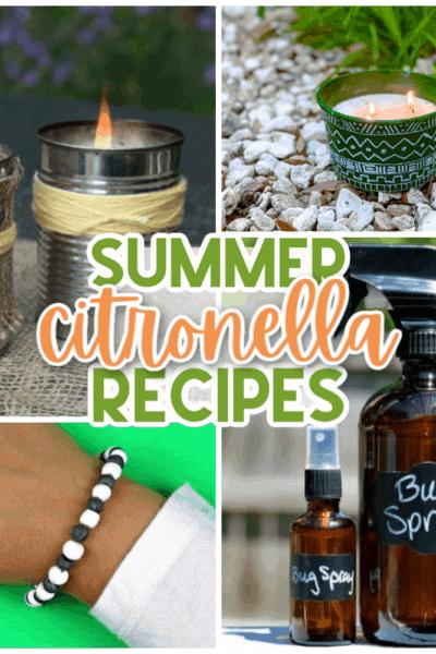 15 Citronella Recipes and DIYs for Summer