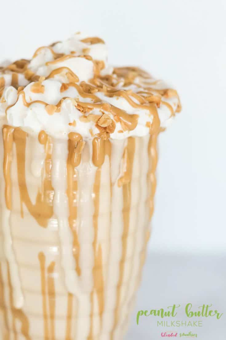 Peanut Butter Milkshake Recipe with only 3 ingredients