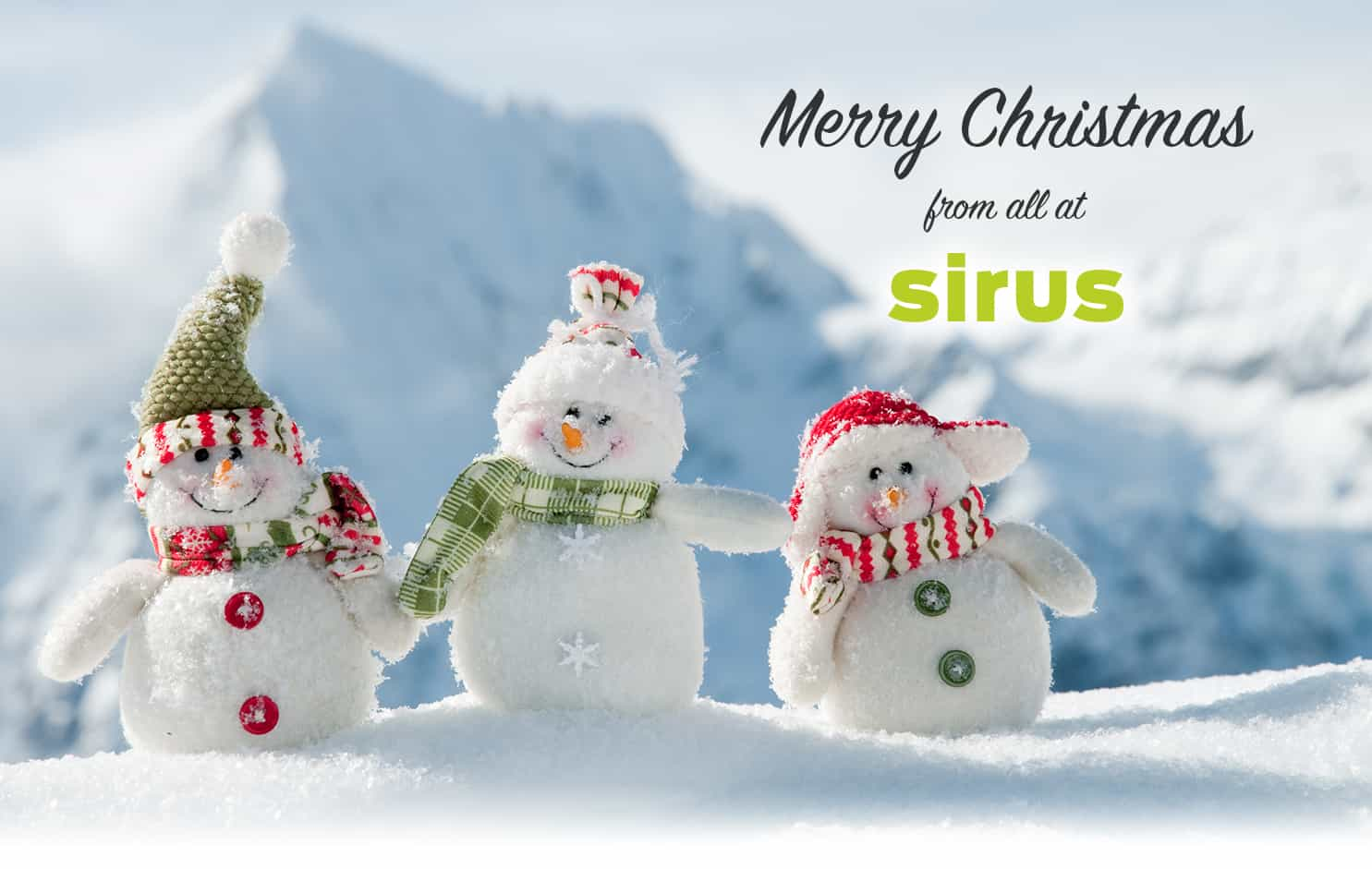 Merry Christmas from all at Sirus