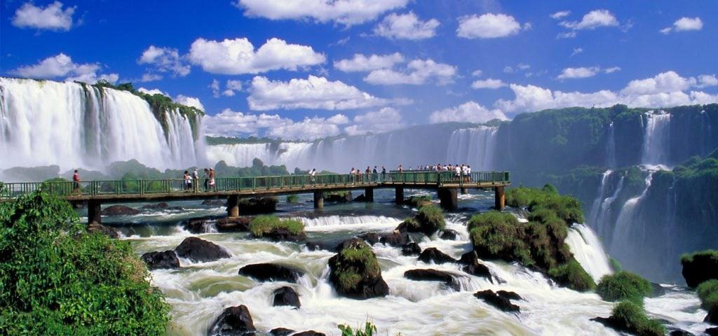 bridge by Iguazu waterfalls