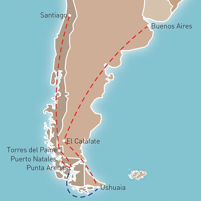 Patagonian Delights Route Map