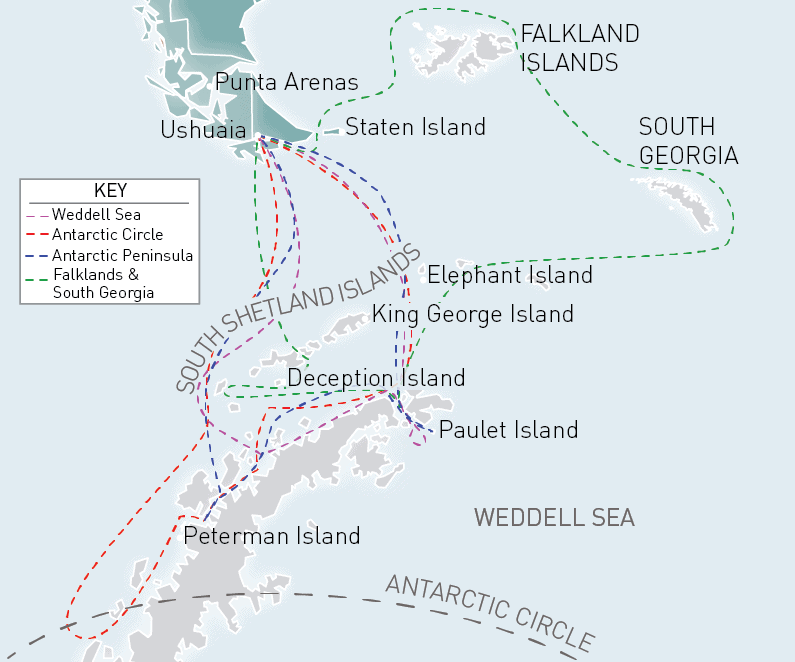 Ocean Adventurer Route Map
