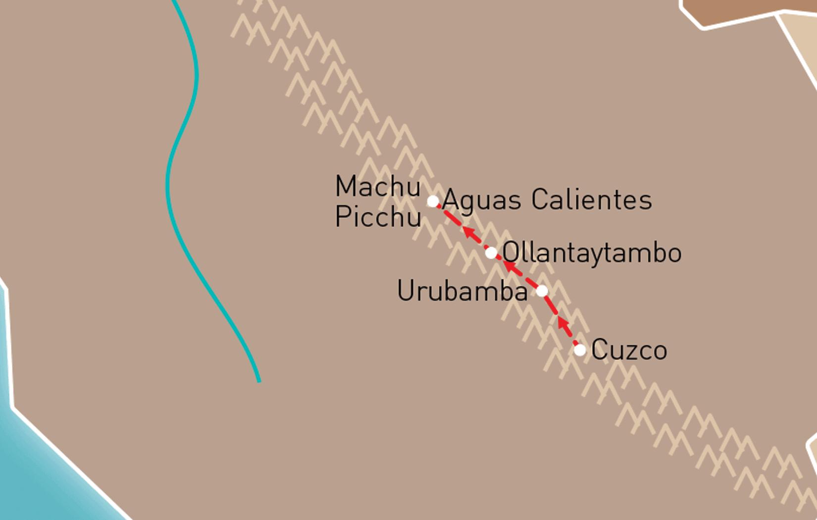 Cuzco & Machu Picchu Route Map