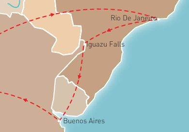 Brazil & Argentina Route Map