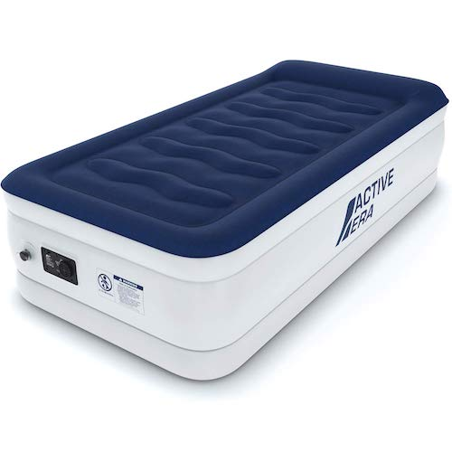 6.Active Era Premium Twin Size Air Mattress (Single) - Elevated Inflatable Air Bed, Height 21