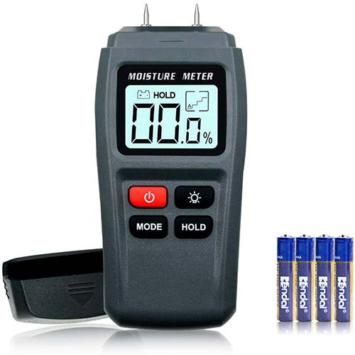 10. ERAY Digital Moisture Meter for Wood with Backlight LCD