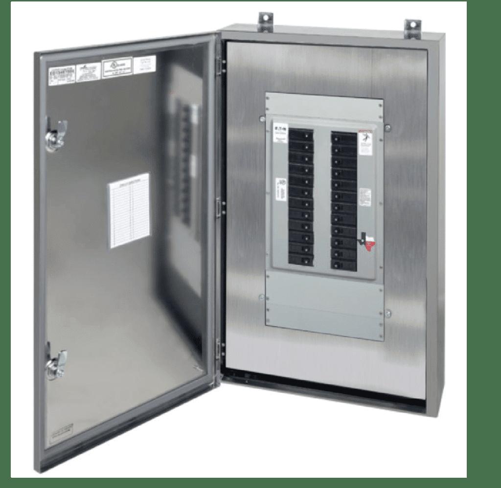 Spike-NEMA-4x-Stainless-Steel-Panelboard-open