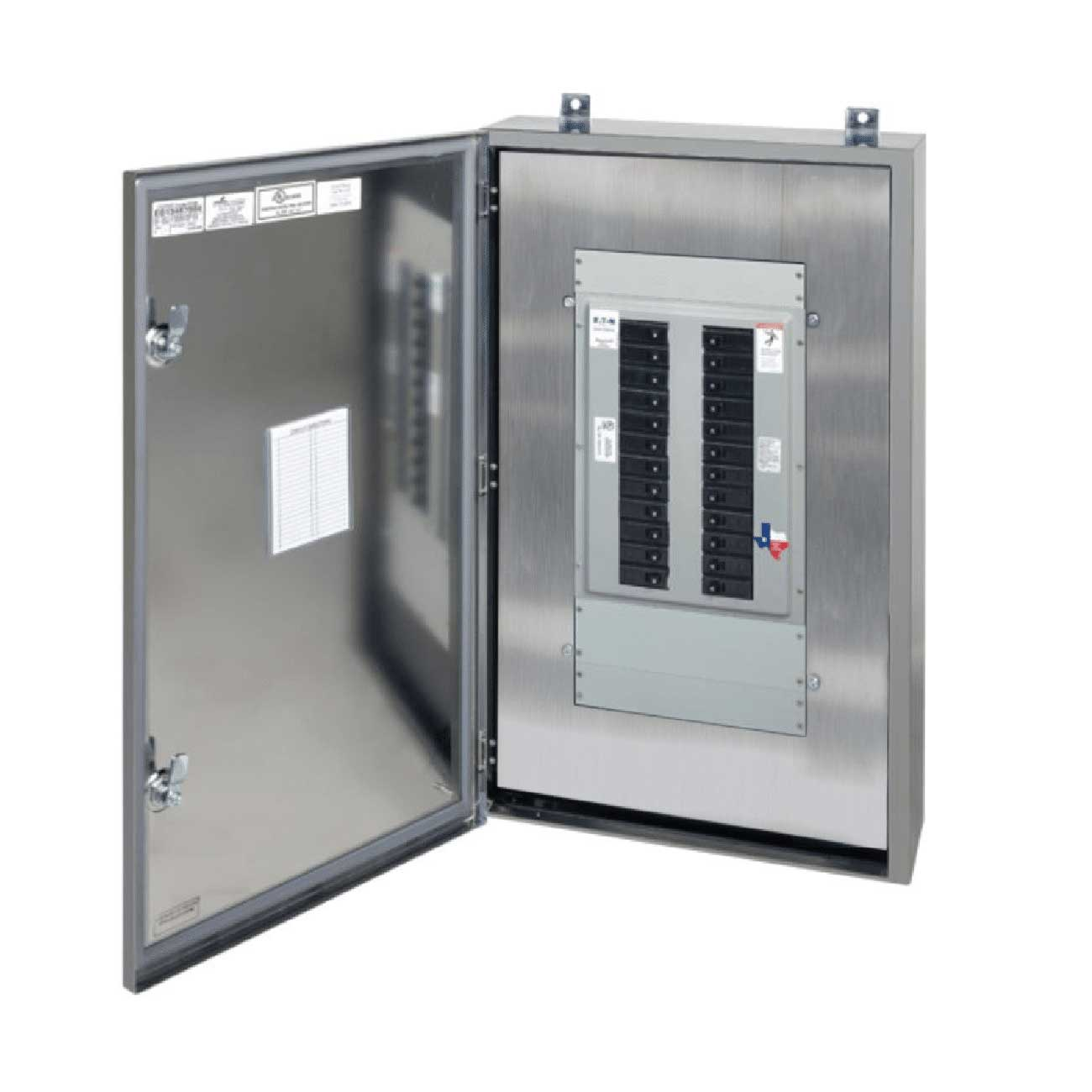 Open Stainless Steel Panelboard by Spike Electric
