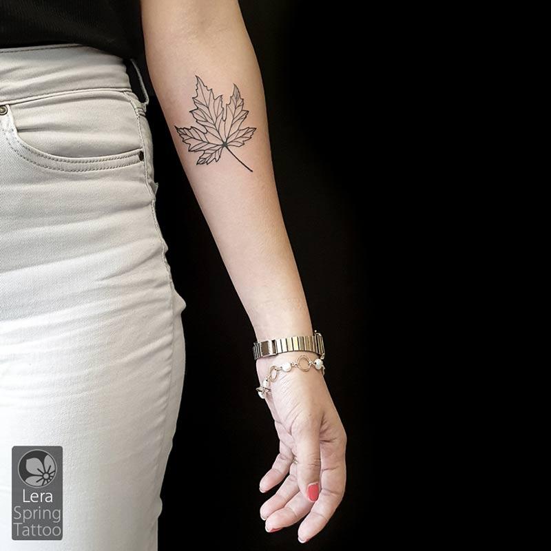 maple leaf tattoo